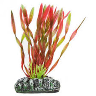 Planta Plástico Vallisneria Roja