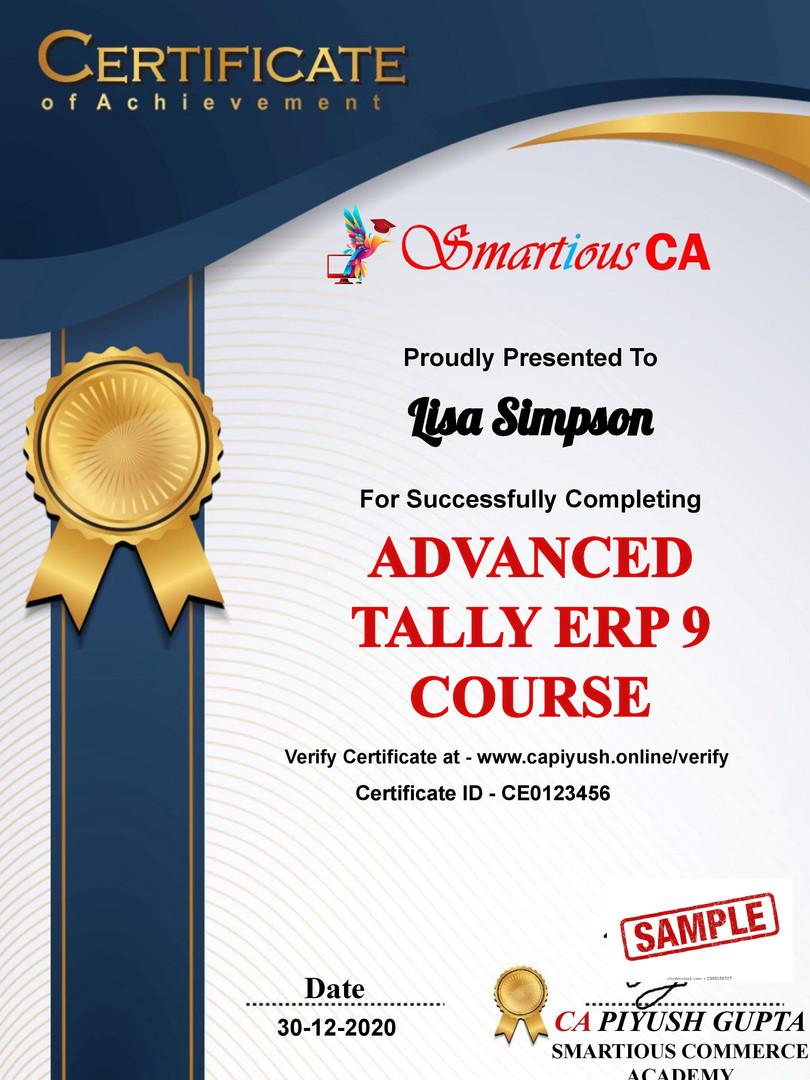 Certificate for Lisa Simpson for _Tally