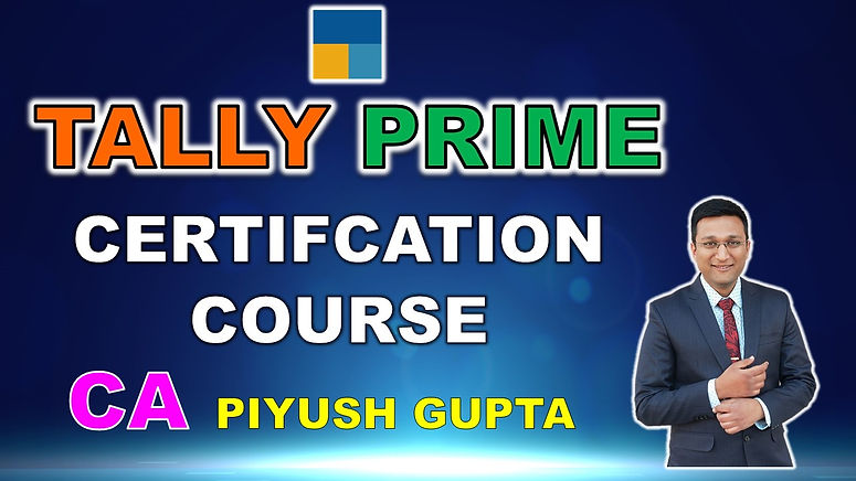 Tally Prime Certification Course Learn T