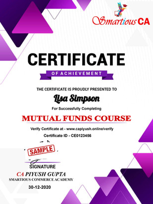 Certificate for Lisa Simpson for _MUTUAL