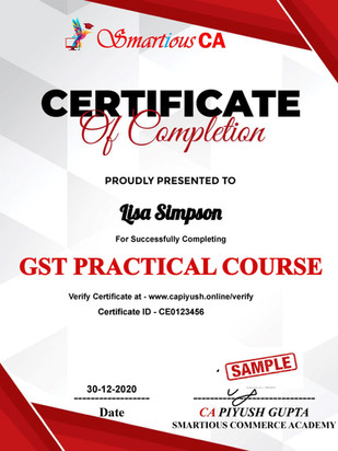 Certificate for Lisa Simpson for _GST Ad