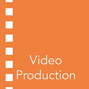 Icon and text for video production