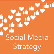 Icon and text for social media strategy