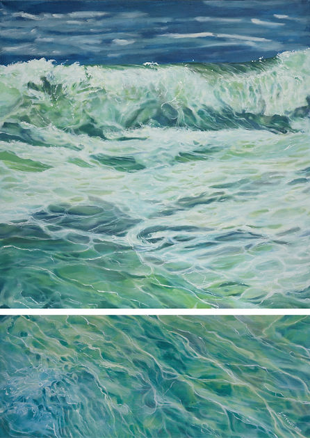 Depths of the Sea - 30_x 42_ diptych  (