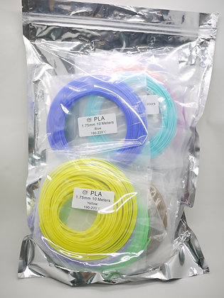 PLA Filament 10m x 20 colors pack