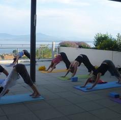 Yoga Rolle à l'extérieur