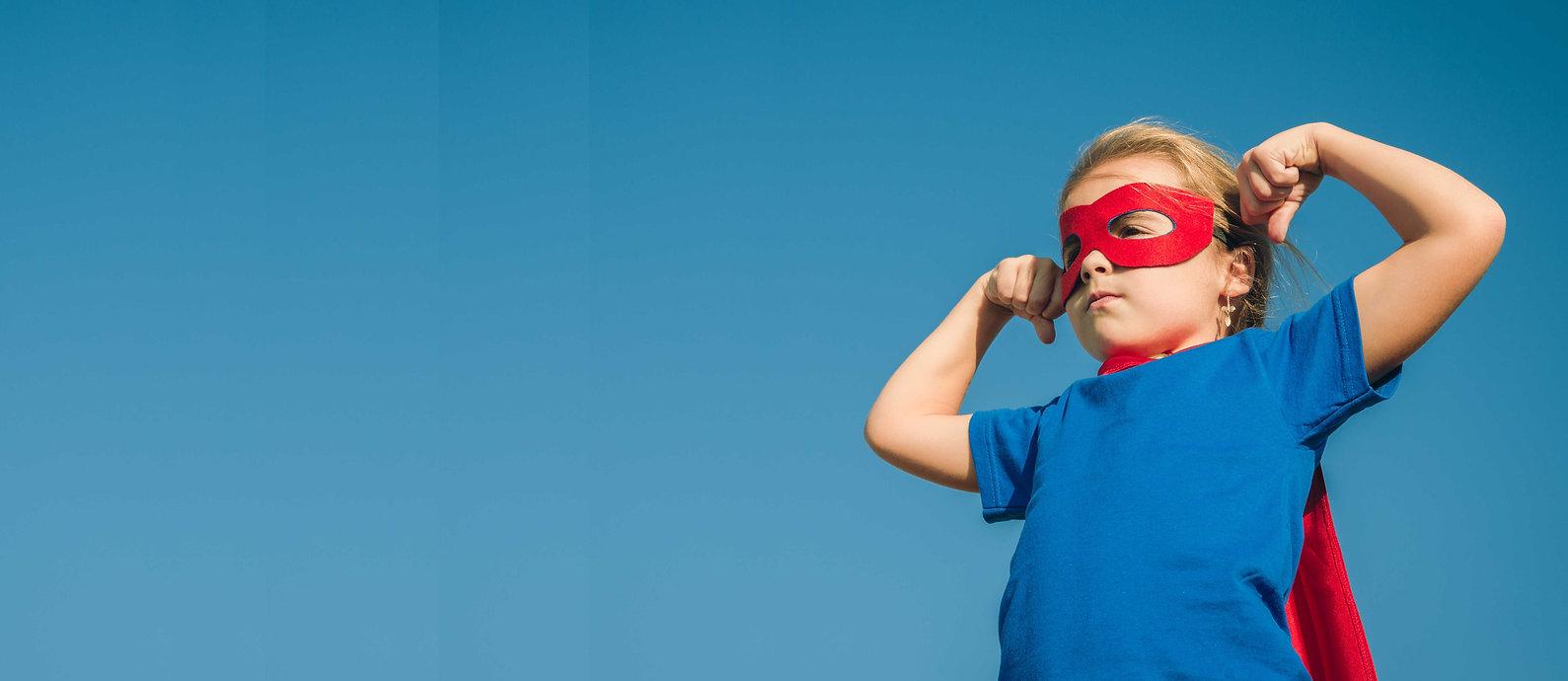 Funny little power super hero child (gir