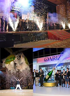 InterMax Productions Limited, 1.All kinds of Event Pyro Effect (Fireworks) 2.Confetti 3.CO2 Jet Effect 4.Shreds of Paper Machine 5.Smoking Machine 6.Bubble Machine 7.Up & Drop Stage Platform 8.All kinds of Flexible Stage Machine Production (Up & Drop Platform, Stage Floor Tracking System, Rotate Stage, Drop Off System)