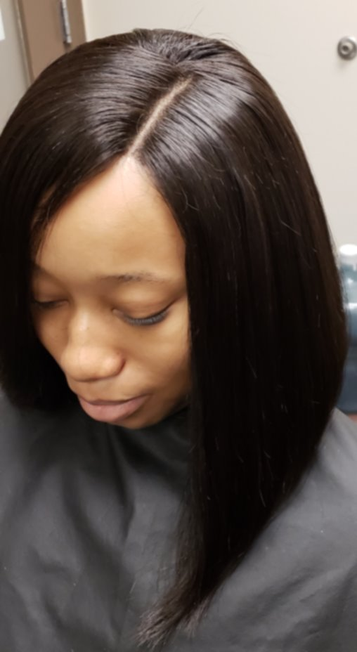 Full sew-in using Peruvian Straight exte