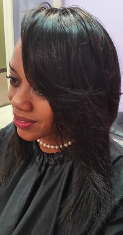 Partial Sew-in Using Peruvian Straight