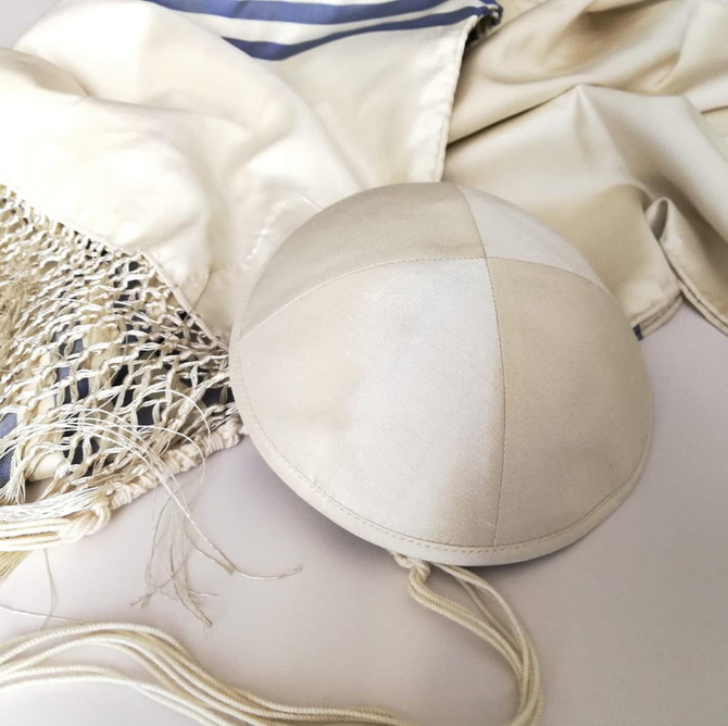 New entry! Silk kippah for adult and child