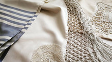 An antique family Tallit from Tripoli brought back to life