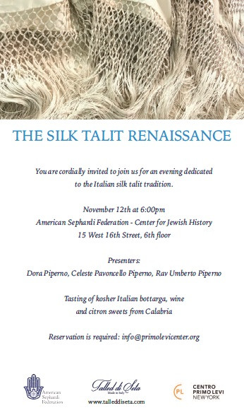 The Silk Talit Renaissance - NYC Nov. 12