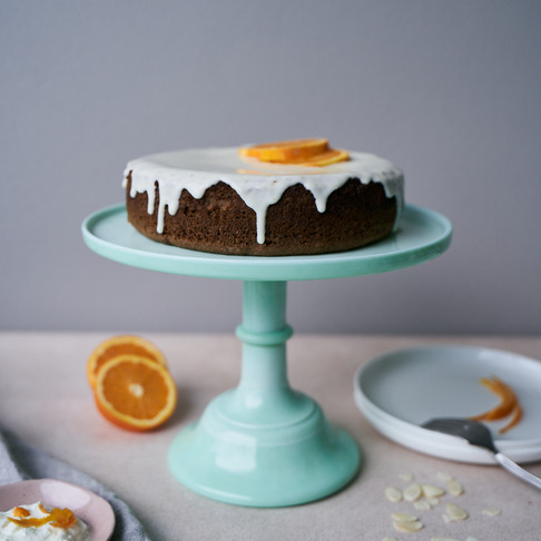 Orange and Almond Cake with Yoghurt Icing