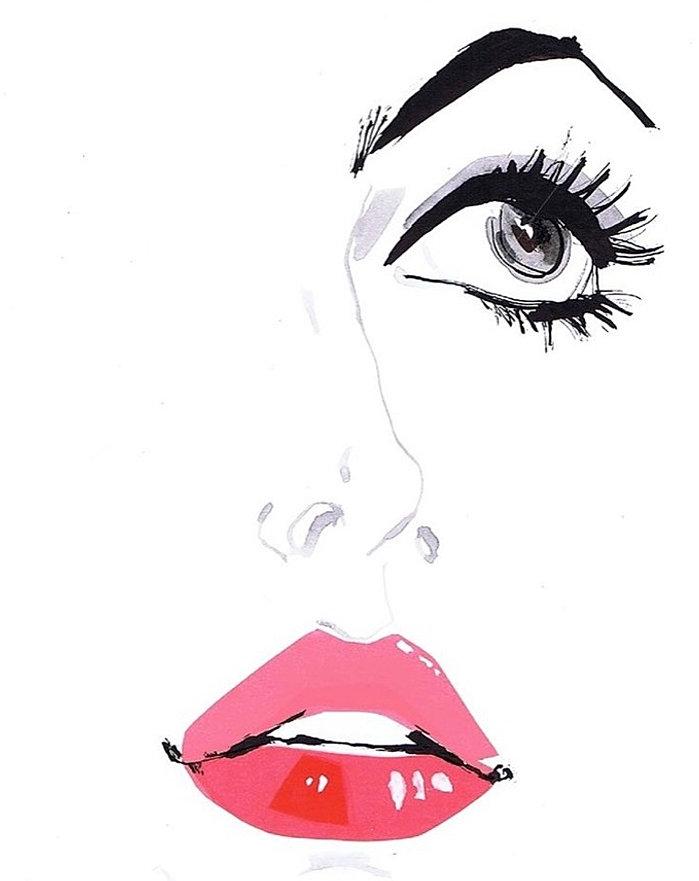 Днем рождения, открытки губы глаза
