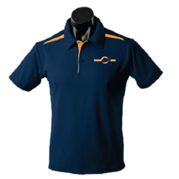 Men's Polo Shirt - Navy / Gold