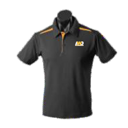 Men's Polo Shirt - Black / Gold