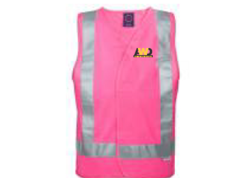 Hi Vis Safety Vest - Pink