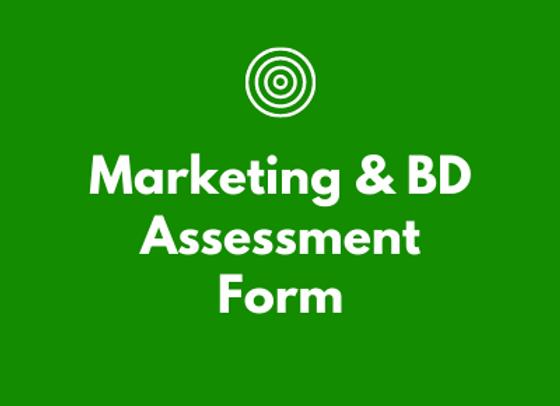 Marketing & BD Assessment Form