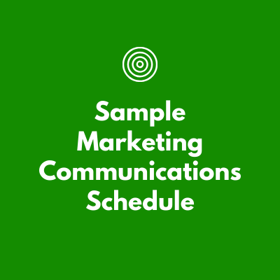 Sample Marketing Communications Schedule