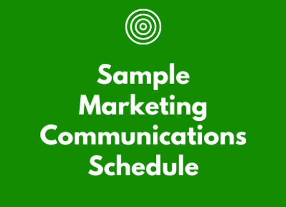 Sample Marketing Communications Schedule for Law Firms