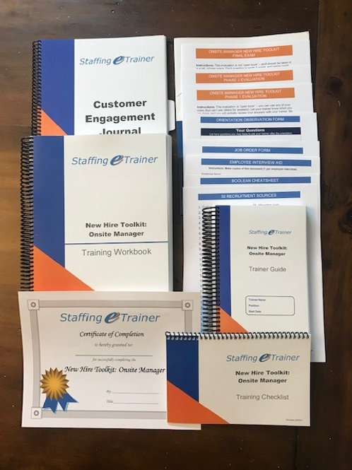 New Hire Toolkit: Onsite Manager