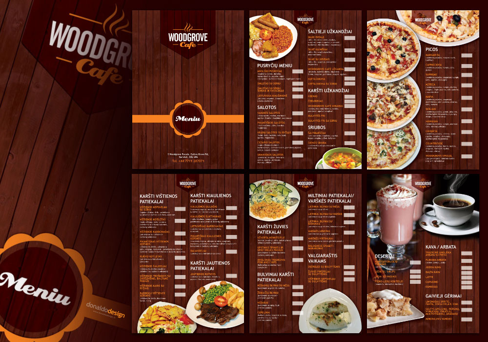 Woodgrove CAFE menu