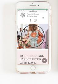 Harriet Alice Website on Mobile