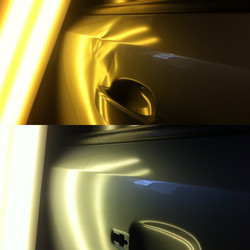 Opel  дверь удар ногой. залом ребра