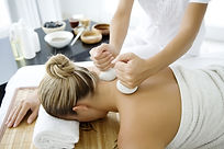 Thai Hot Herbal Massage, a Heated muslin parcel of aromatic herbs and spices, which is applied, is a systematic massaging fashion to the body