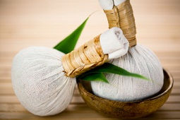 Thai Herbal, a heated muslin parcel of aromatic herbs and spices, which is applied, is a systematic massaging fashion to the body