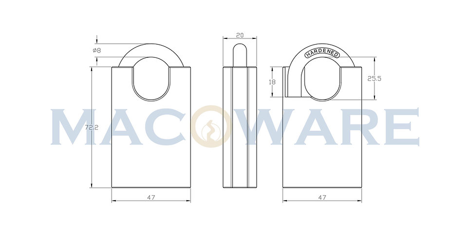 900 Closed Shackle Stainless Steel Padlo