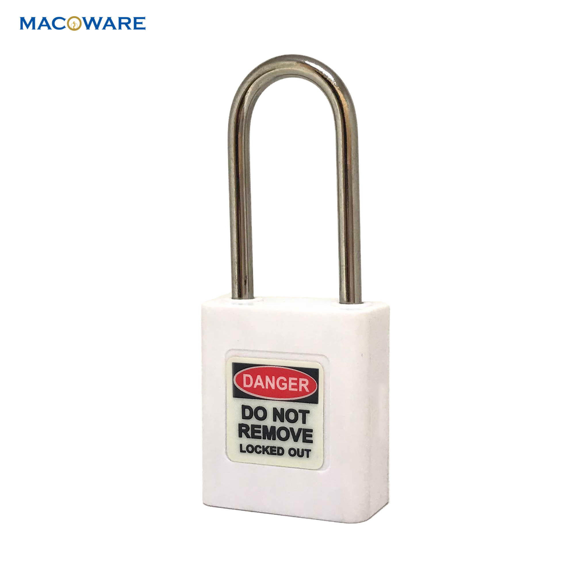 Plastic padlock_white_5