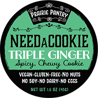 Triple Ginger NeedaCookie Front Label