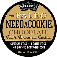 Paleo Chocolate NeedaCookie Front Label