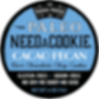 Paleo Cacao Pecan NeedaCookie Label