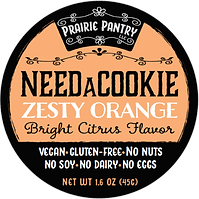 Zesty Orange NeedaCookie Front Label