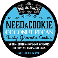 Coconut Pecan NeedaCookie Front Label
