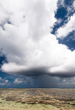 Storm over Great Barrier Reef by Dave Currey