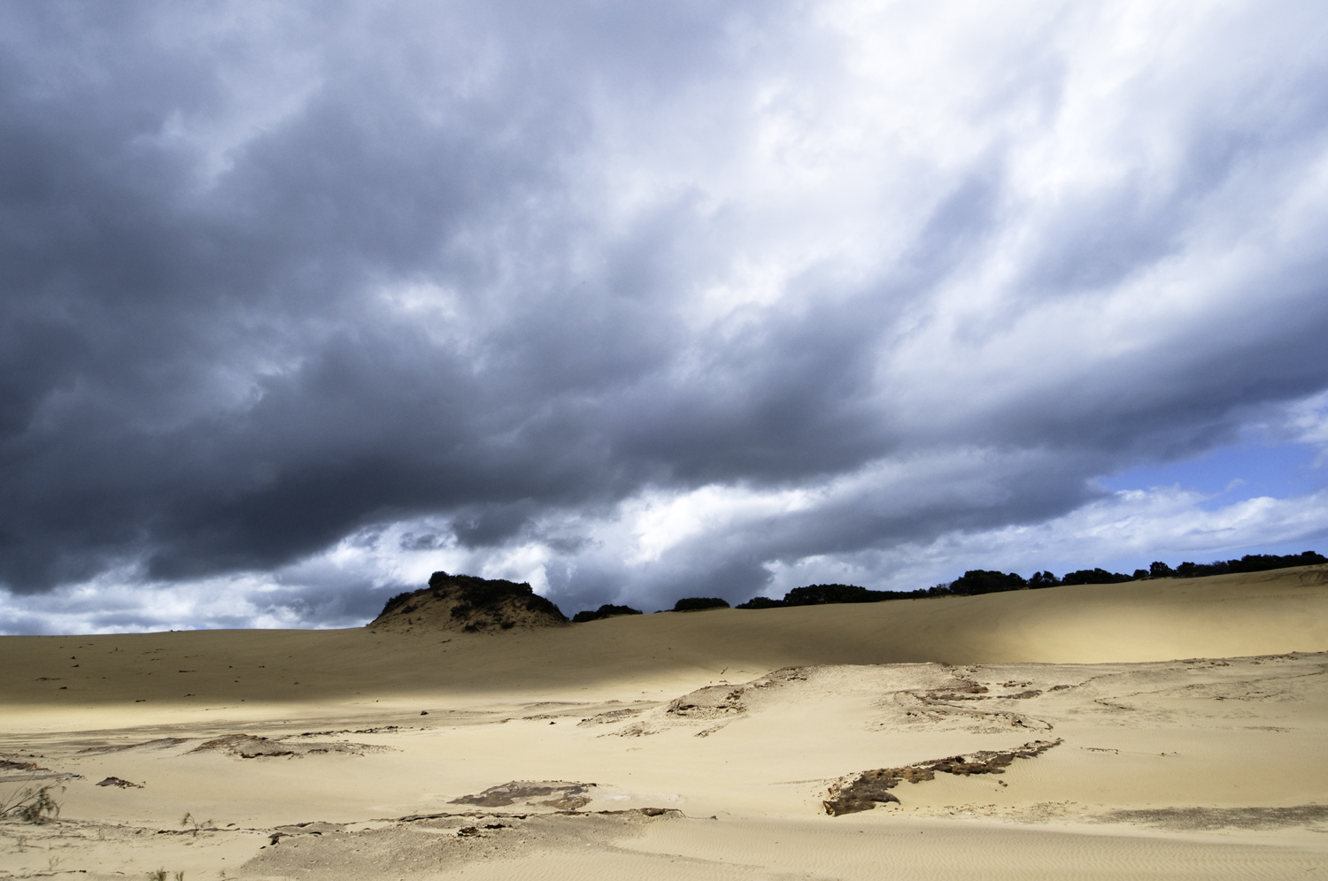 Dunes and storm by Dave Currey