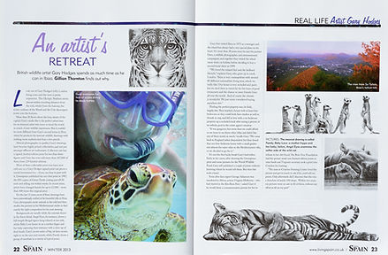 Wildlife Artist Gary Hodges article