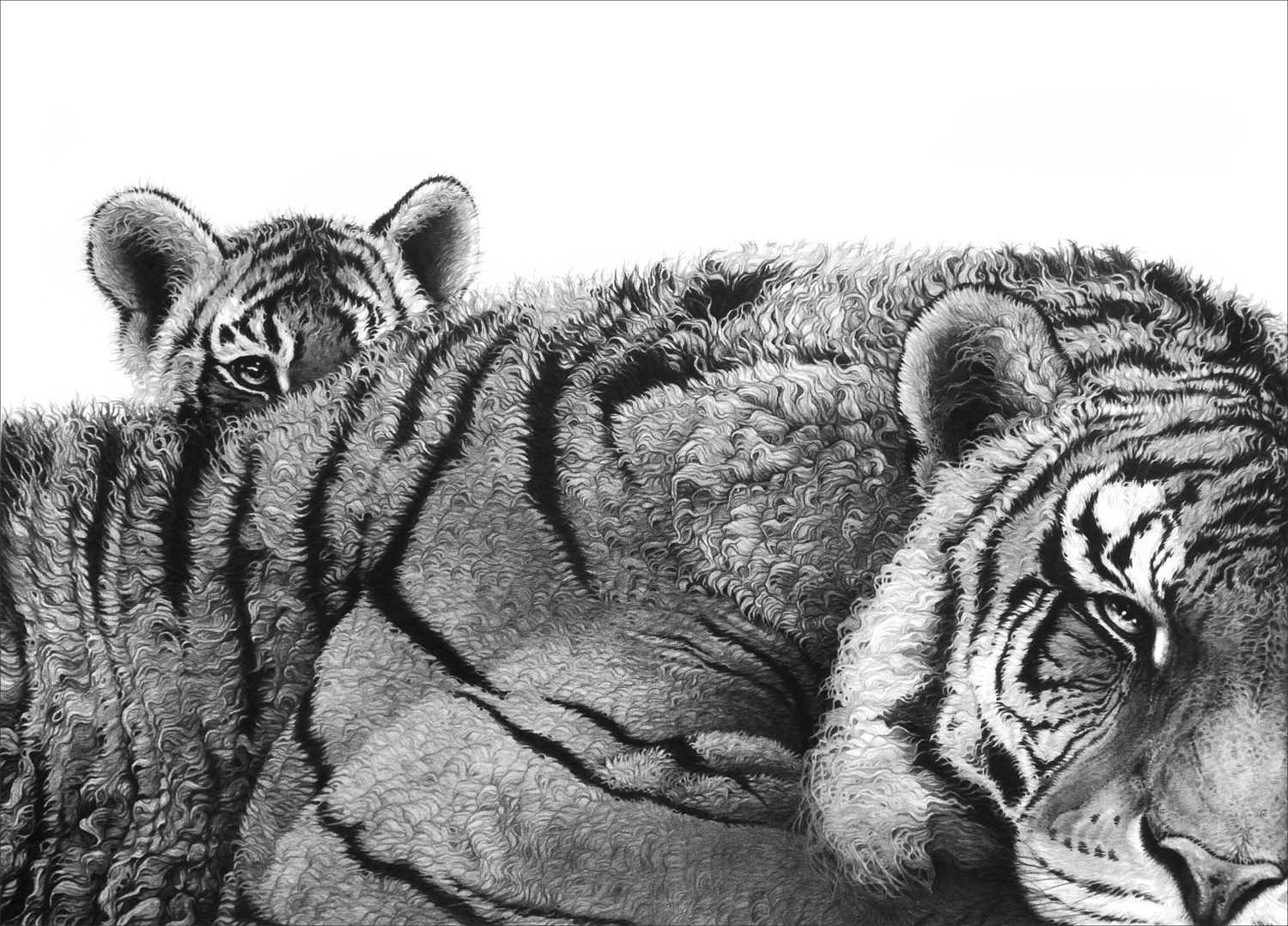 Pride and Joy (tigress and cub) 1998