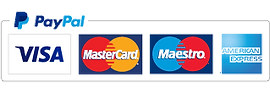 Logos of paypal visa, Amex and Mastercard