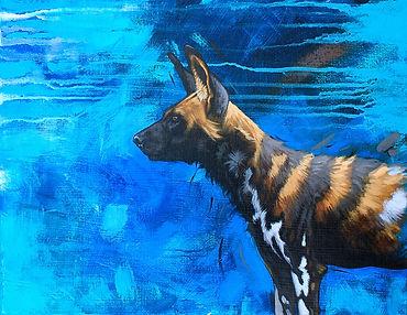 H Irvine - Runforwilddogs painting 300dp