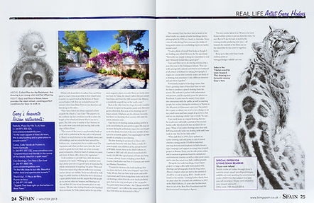Wildlife Artist Gary Hodges article in magazine