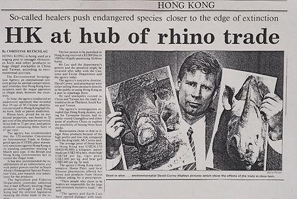 Dave Currey exposes rhino horn trade in Hong Kong
