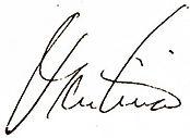 Signature for quote by Martina Navratilova