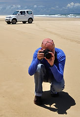 Photographing the landscape on Fraser Island, Queensland