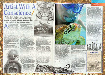 Article about Gary Hodges, wildlife artist
