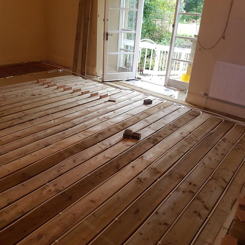bridge room underfloor heating